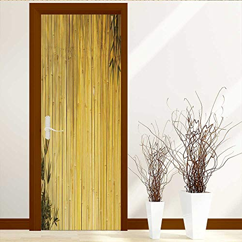 Door Stickers Wall Murals Decals Removable Light Golden Bamboo Great for Any Project Plea AKE a Look at My Similar Bamboo Images Art Decor 3D Door Wall Mural Wallpaper Stickers W31 x H79