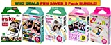 Photo : Fujifilm Instax Mini Instant Film 5 Pack BUNDLE, Candy Pop, Stained Glass, Stripe, Shiny Star, Single pack : 10 sheets X 5 Pack Assort Bundle = 50 Sheets! BONUS-FREE Wiki Deals Colorful Micro Fiber Cloth!