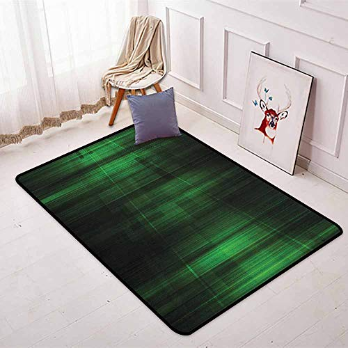 - Forest Green 3D Printed Round Carpet Vibrant Technology Pattern with Vertical Lines Digital Technical Themed Print for Partial Areas W47.2 x L71 Inch Green Black