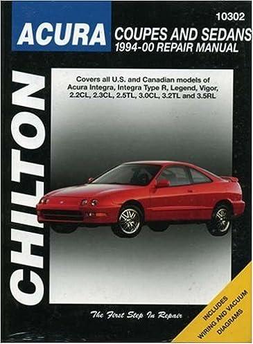 acura coupes and sedans 1994 00 chilton total car care series rh amazon com 95 Acura Integra 01 Acura Integra Bumper Lip