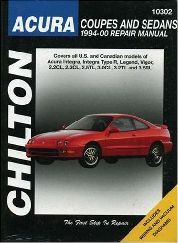 Acura Coupes and Sedans, 1994-00 (Chilton Total Car Care Series Manuals) Chilton