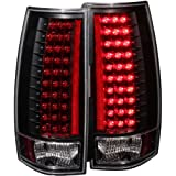 Anzo USA 311084 Cadillac/Chevrolet/GMC Black (Gen 3) LED Tail Light Assembly - (Sold in Pairs)