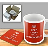 Keep Calm - Im An Anthropologist - Mug and Coaster Set by The Victorian Printing Company