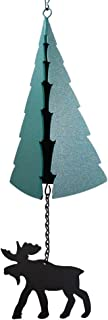 product image for Modern Artisans Forest Bell: American-Made Large 3-Tone Outdoor Wind Bell with Moose Wind Catcher