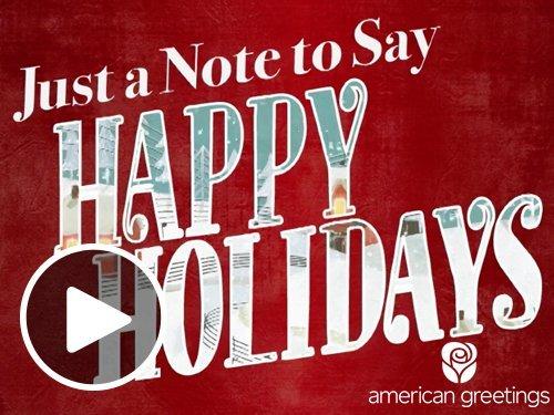 Happy Holidays - Animated eGift Card