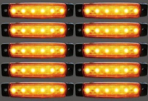 10/x 12/V 6/LED SMD Orange Ambre c/ôt/é position double Ch/âssis de camion de feux de gabarit pour camping-car camping-car caravane Bus van