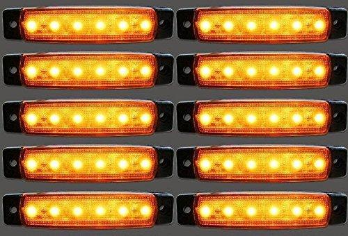 10/x 12/V LED Orange Ambre c/ôt/é Outline Feux de gabarit position Camion van camping-car Bus benne