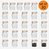 4oz glass jar with lid - Encheng 4 oz Glass Jars With Airtight Lids And Leak Proof Rubber Gasket,Small Mason Jars With Hinged Lids For Kitchen, Mini Spice Jars 30 Pack