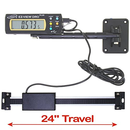 iGaging 35-724-P+ Digital Readout DRO Travel XL LCD Display EZ-View Plus, 24