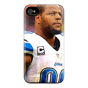 Iphone 4/4s Case Cover - Slim Fit Tpu Protector Shock Absorbent Case (ndamukong Suh)