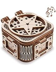 GuDoQi Modelbouw Set, Mini Muziekdoosje met 18 Tonen, 3D Puzzel, Hobby's voor Volwassenen, Doe-Het-Zelf-Assemblage Speelgoed, Cadeaus Idee voor Verjaardagen Kerstmis