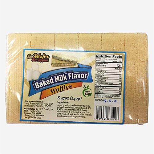 Baked Milk Flavor Waffles, 8.47 oz, Euro Wafer (3pack)