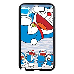 samsung n2 7100 phone case Black Doraemon CHR4567240