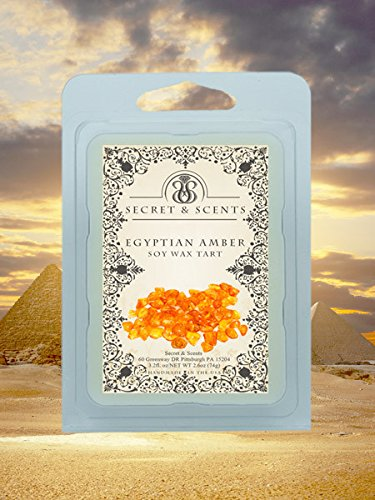 Elegant Jewelry Soy Tarts - Secret and Scents Highly Scented Soy Tarts Wax Melts - Pick your scent and jewelry type (Egyptian Amber, Earrings) ()