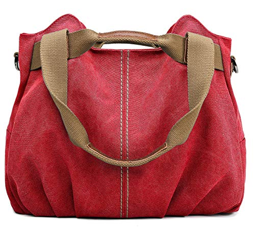 (Z-joyee Women's Ladies Casual Vintage Hobo Canvas Daily Purse Top Handle Shoulder Tote Shopper Handbag Satchel Bag)