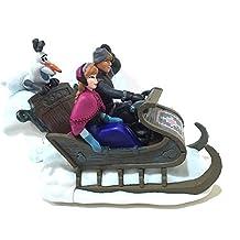 Disney Parks Frozen Sleigh with Anna Olaf Kristoff Plastic Wind Up Figurine by Disney