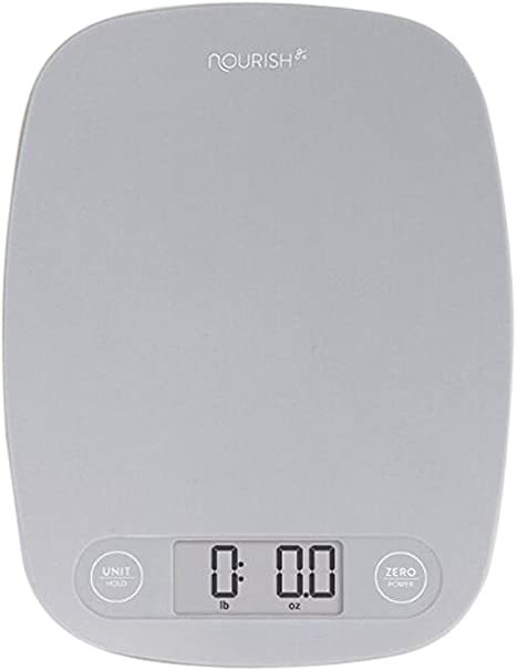 Amazon Com Greatergoods Digital Food Kitchen Scale Multifunction Scale Measures In Grams And Ounces Ash Grey Kitchen Dining