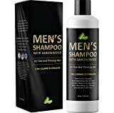 Men's Shampoo with Sandalwood - 2 in 1 Invigorating Shampoo for Thicker Hair - With East Indian Sandalwood & Argan Oil - Cleanse and Stimulate Hair & Scalp with This Revitalizing Formula