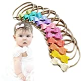 Baby bows and headbands - Newborn to toddler - Rainbow colors