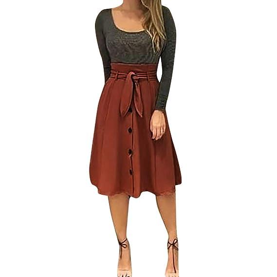 LeeMon Kleid - Falda - para Mujer, Primavera/Verano, Mujer, Color ...