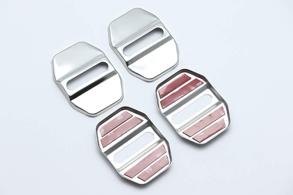 For Mercedes-Benz S-Class S class W221 W222 C217 A217 Car Door Lock Striker Buckle Cap Protection Cover Auto Accessories Styling GLFDYC 4Pcs Stainless Steel Door Lock