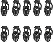 Footful Grenade Shoelace Buckle Cord Lock Rope Clamp Outdoor Sports 10Pcs