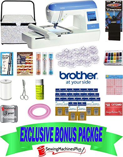 $1249 VALUE BROTHER PE-770 EMBROIDERY MACHINE WITH USB PORT AND BONUS PACK!