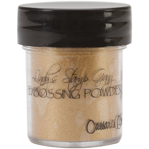 Lindy's Stamp Gang 2-Tone Embossing Powder, 0.5-Ounce Jar, Ceasar's Gold