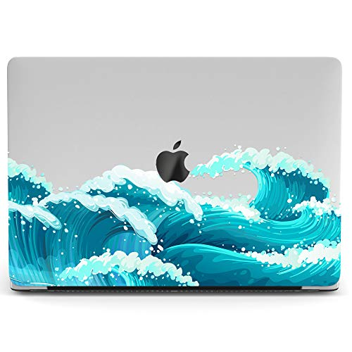 Wonder Wild Mac Retina Cover Case For MacBook Pro 15 inch 12 11 Clear Hard Air 13 Apple 2019 Protective Laptop 2018 2017 2016 2015 Plastic Print Touch Bar Abstraction Waves Sea Big Wave Art Ocean Teen