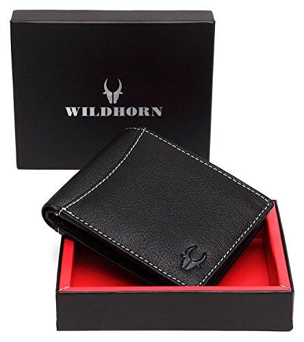WildHorn Black Men's Wallet (WH1255)