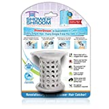 ShowerShroom the Revolutionary 2'' Stand-Up Shower Stall Drain Protector Hair Catcher/Strainer, Gray