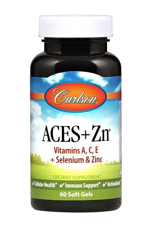 Carlson Labs - ASES + Zn vitaminas A, C, E y selenio y Zinc
