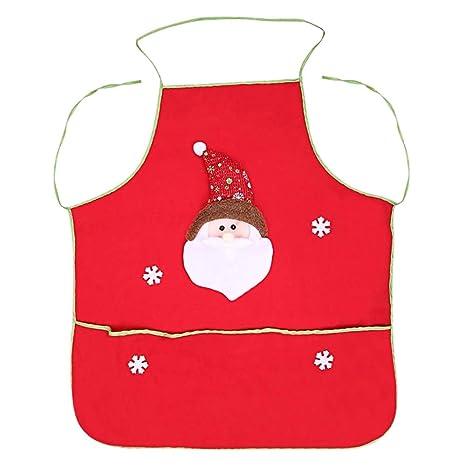 Wenquan,Delantal de muñeco de nieve de Papá Noel con fiesta de cena navideña de
