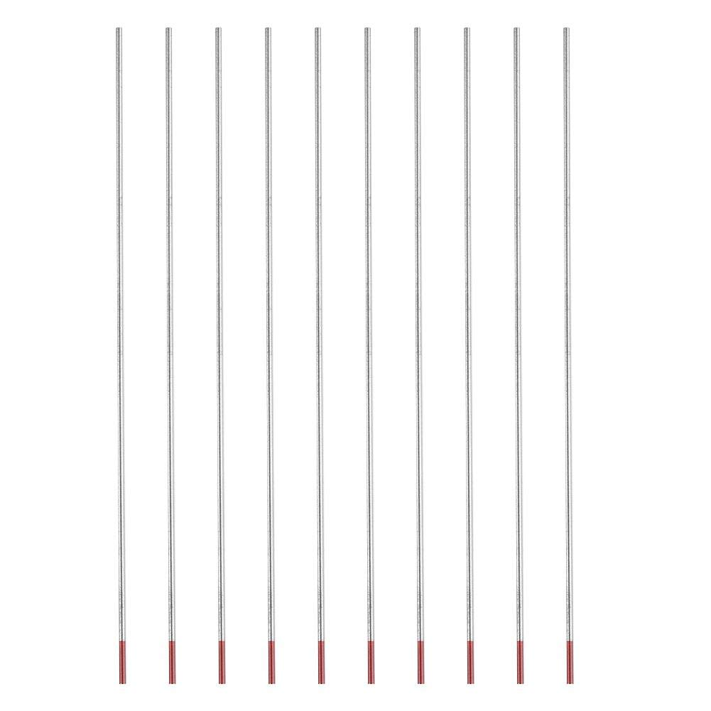 3.0mm*150mm Tungsten Electrode Rod Professional Thorium Tig Rod 2/% Thoriated for Tig Welding Machine WT20 Red