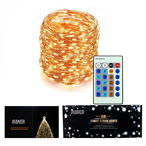 Outdoor String Lights Keepfit Dimmable 200 Led String