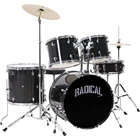 Cannon RAD5BLK 5-Piece Drum Set - Black 1