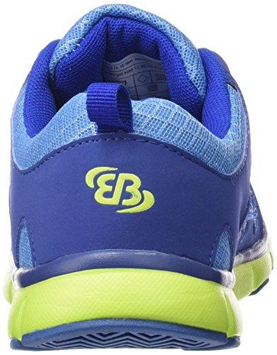 BruettingSpiridon Fit - zapatillas de running Niños Azul - Blau (blau/lemon)