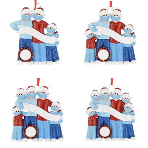 Meanwell 2020 Adornos de Navidad Cuarentena Decoración de fiesta de Navidad Producto de regalo Familia personalizada con bolígrafo Diy