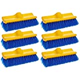 Rubbermaid Commercial Floor Scrub Brush, 10'', Blue, FG633700BLUE (6 Brushes)