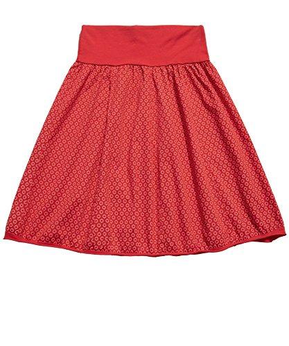 Sommerröcke Knielang - Rock Damen Rot : Modell Anette Knielang, Geblümt, Sommerlich, Sexy Baumwolle