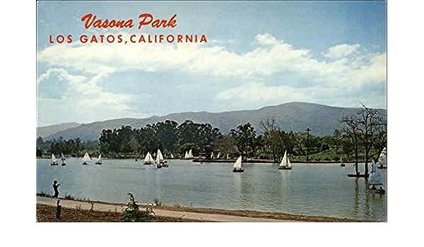 Amazon.com: Vasona Lake Park Los Gatos, California Original Vintage Postcard: Entertainment Collectibles
