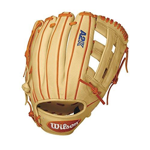 Wilson A2k Dw5 David Wright Infield Baseball Glove, Blondeorangewhite, Right Hand Throw, 12-inch