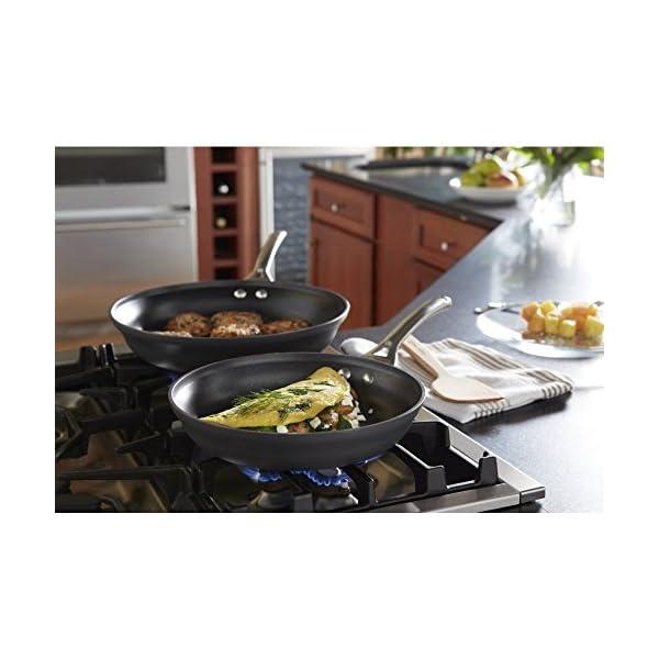 Calphalon 2 Piece Contemporary Frying Pan Set, Nonstick, Black 3