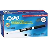 Expo Low Odor Fine Tip Dry Erase Markers, 12 Markers, Black (86001)