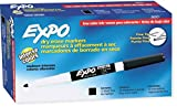 expo pack - EXPO 86001 Low Odor Dry Erase Marker, Fine Point, Black (Pack of 12)