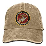Gorgeous decoration USMC-Eagle Globe and Anchor Denim Hat Adjustable Unisex Flag Baseball Hat