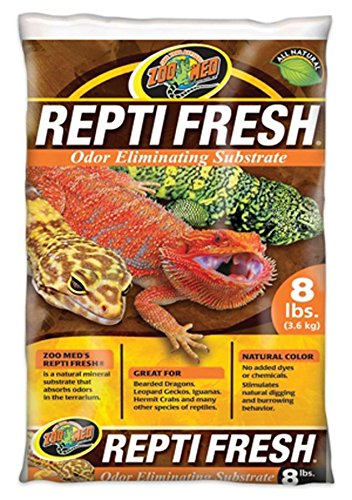 Zoo Med ReptiFresh Odor Eliminating Substrate, Blacks & Grays, 8 lb ()