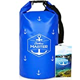 Dry Bag - 20L Floating Waterproof Bag for Boating, Sailing, Kayaking, Rafting, Stand Up Paddling, Canoeing, Camping by Outdoors MASTER (Blue)