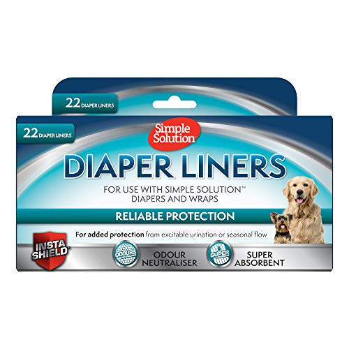Simple Solution Dog Diaper Liners (Pack Of 22) (22 Pack) (Light)