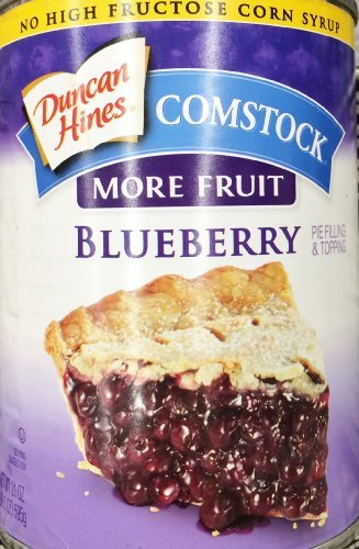 3 x 21oz Duncan Hines Comstock Pie Filling & Topping More Fruit Blueberry